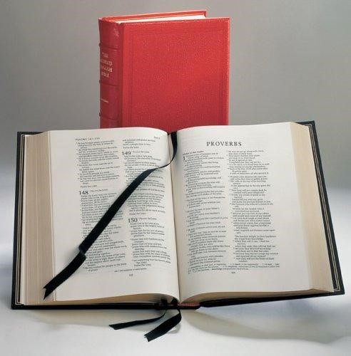 REB Lectern Bible, Red Imitation Leather Over Boards Re932:T (Imitation Leather)