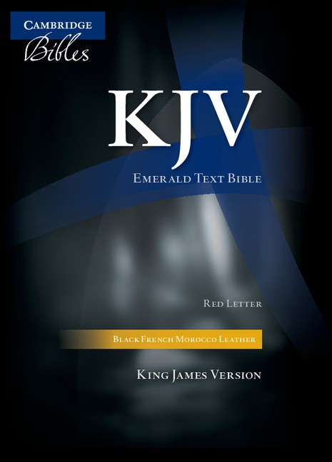 KJV Emerald Text Edition, Black French Morocco Leather (Leather Binding)