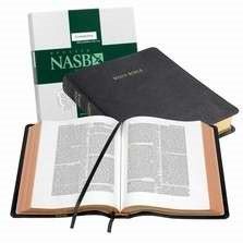 NASB Wide Margin Reference Bible, Black Edge-Lined Goatskin (Leather Binding)