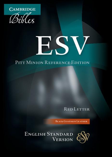 ESV Pitt Minion Reference Edition Black Goatskin Leather (Leather Binding)