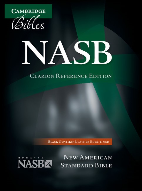 NASB Clarion Reference Bible, Black Goatskin Leather (Leather Binding)