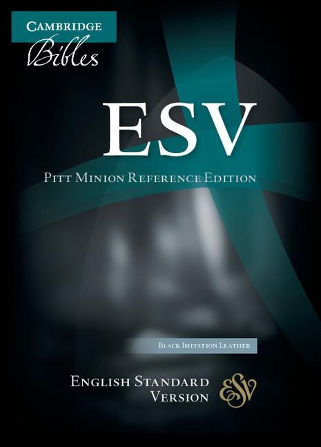 ESV Pitt Minion Reference Edition Black Imitation Leather (Imitation Leather)