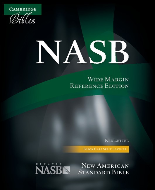 NASB Wide Margin Reference Bible, Black Calfsplit Leather (Leather Binding)