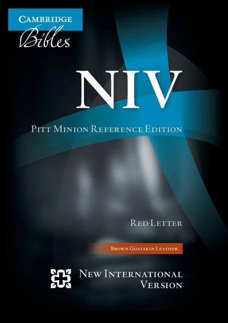 NIV Pitt Minion Reference Edition, Brown Goatskin Leather (Leather Binding)