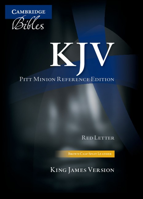 KJV Pitt Minion Reference Edition, Brown Calf Split Leather (Leather Binding)