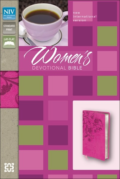 NIV Woman's Devotional Bible, Italian Duo-tone, Raspberry (Hard Cover)