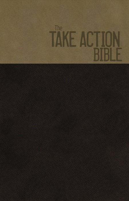 NKJV Take Action Bible, Ls/Br/Cop (Leather-Look)