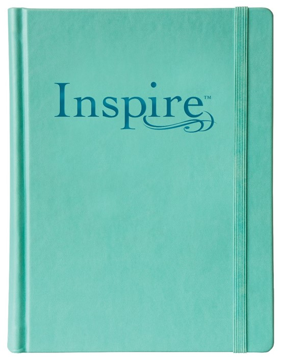 NLT Inspire Bible Aquamarine (Hard Cover)