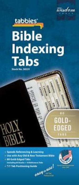 Bible Index Tabs Regular Gold (Tabbies)