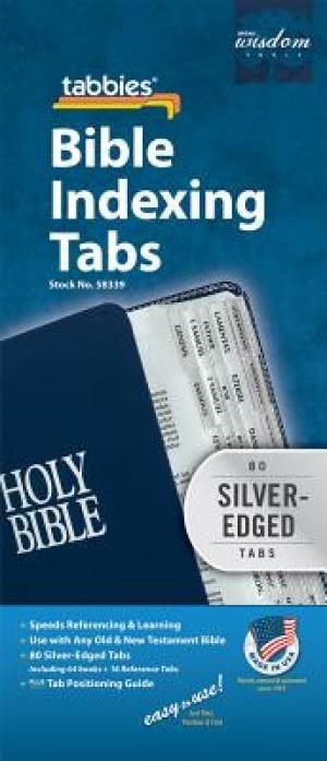 Bible Index Tabs Regular Silver (Tabbies)