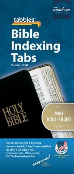 Bible Index Tabs Mini Gold (Tabbies)