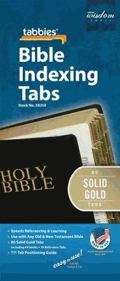 Bible Index Tabs Solid Gold Reg (Tabbies)