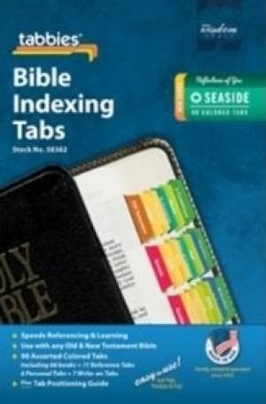 Bible Index Tabs Seaside Colored (Tabbies)