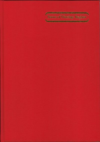 Banns of Marriage Register (Hard Cover)