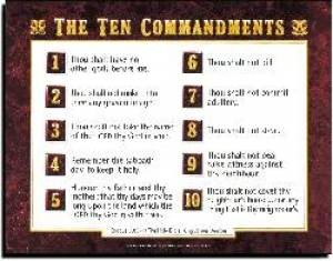 Ten Commandments Av        20X26 (Wall Chart)