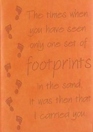 Journal: Footprints Orange