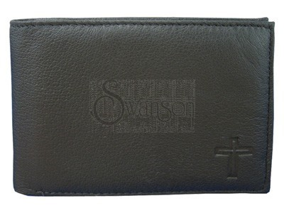 Wallet Black Leather Cross