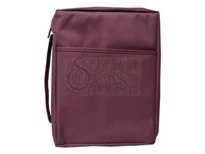 Bible Cover Plain Burgundy Sm