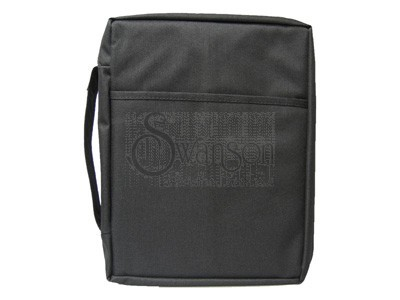 Bible Cover Plain Black Sm