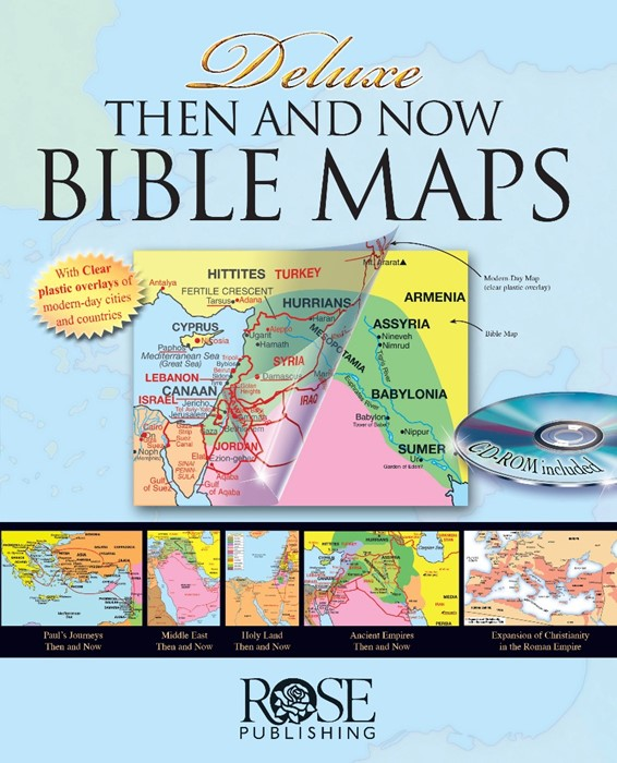 Deluxe Then And Now® Bible Maps (Spiral Bound)