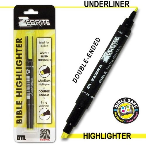 Double Ended Highlighter - Yellow