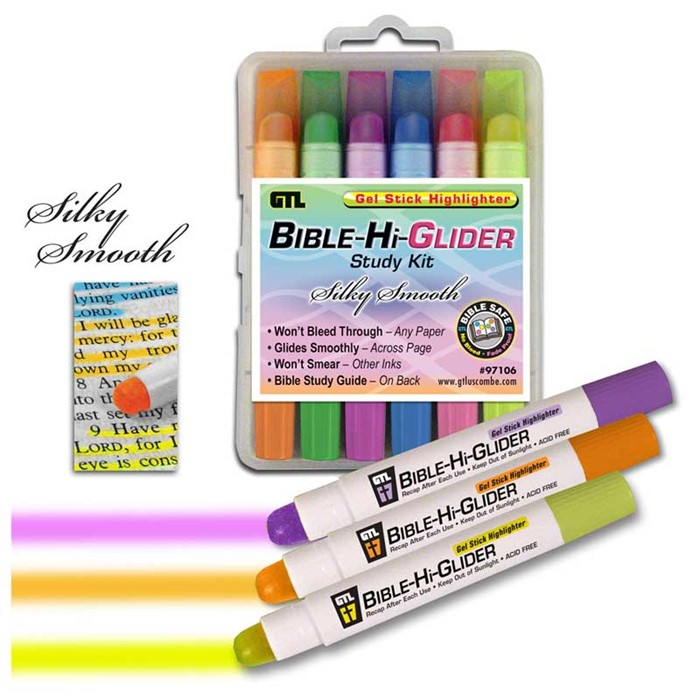 Bible Hi-Glider Gel Stick 6Pk