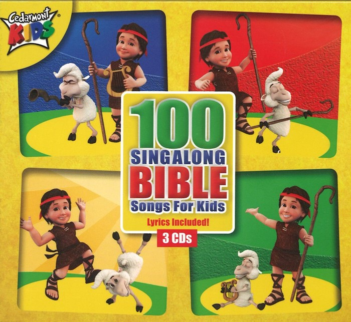 100 Singalong Bible Songs For Kids (CD-Audio)