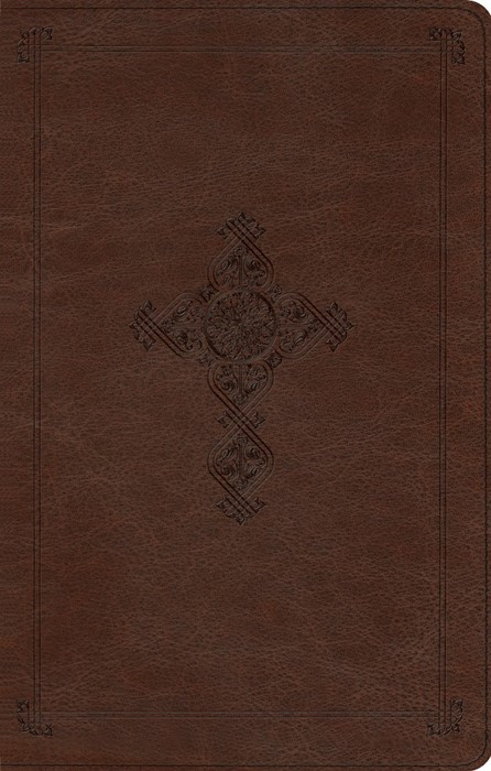 ESV Ultrathin Cross Design, DuoTone Brown Antique (Imitation Leather)
