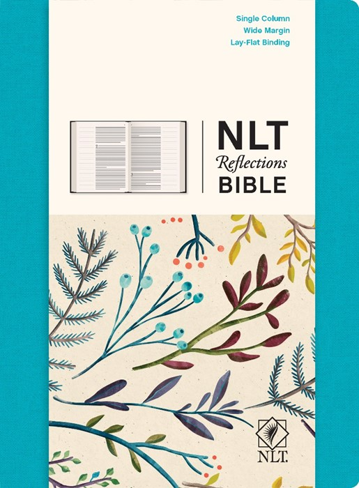 NLT Reflections Bible, Oceans Blue (Hard Cover)