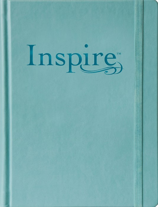 NLT Inspire Bible Large Print, Tranquil Blue (Hard Cover)