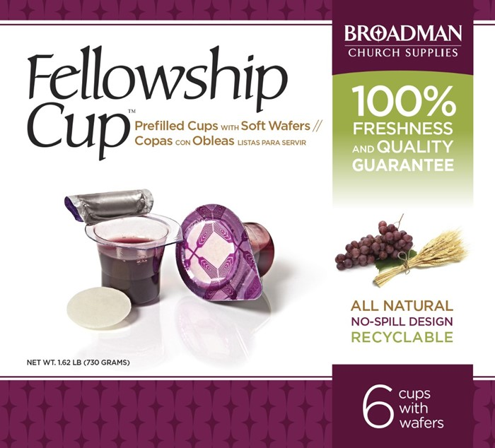 Fellowship Cup Box of 6 - Prefilled Communion Bread & Cup (General Merchandise)
