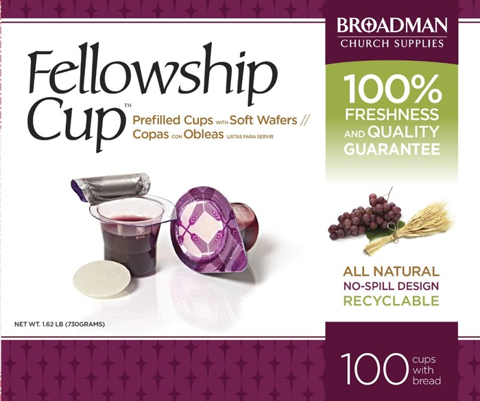 Fellowship Cup Box of 100 - Prefilled Communion Bread & Cup (General Merchandise)