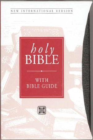 NIV Popular Bible with Bible Buide Black (Leather Binding)