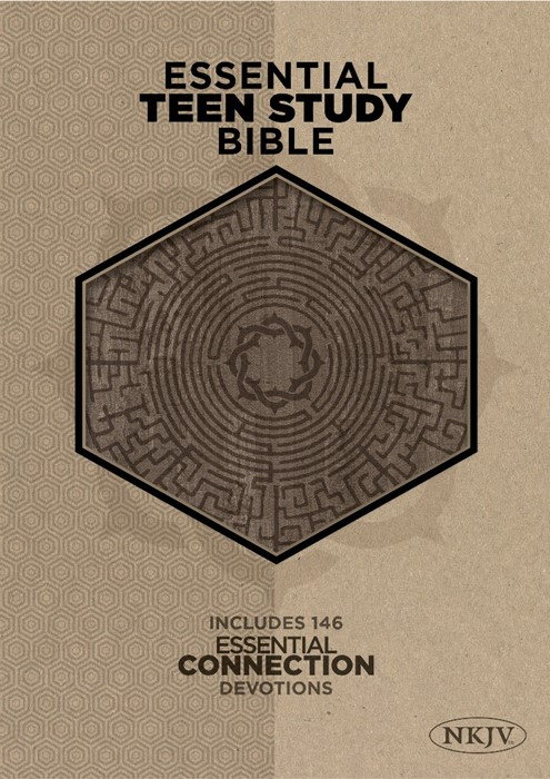 The NKJV Essential Teen Study Bible, Gray Cork Leathertouch (Leather Binding)