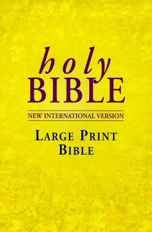 NIV Large Print Bible (Hard Cover)