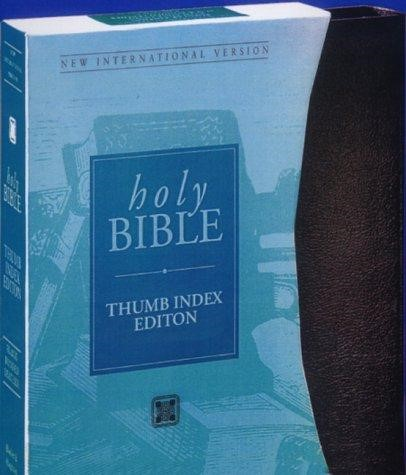 NIV Thumb Index Edition Inclusive Bible Blue (Leather Binding)