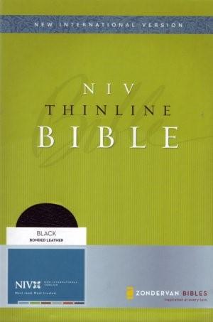 NIV Thinline Bible Black (Leather Binding)