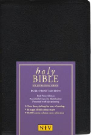 NIV Bold Print Reference Bible (Leather Binding)