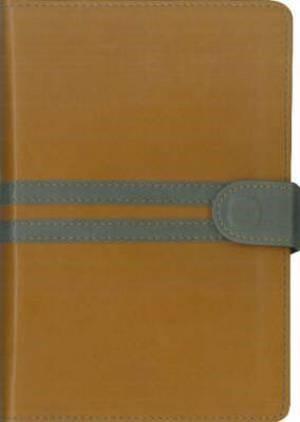 NIV Thinline Compact Tan/Grey (Leather Binding)