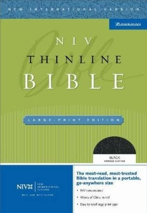 NIV Thinline Large Print Bible (Leather Binding)