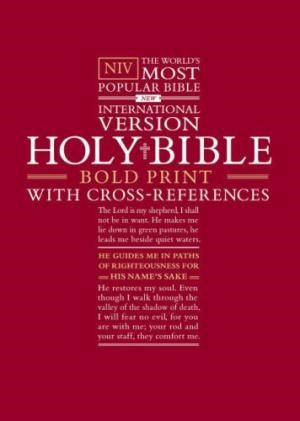 NIV Bold Print Reference Bible (Hard Cover)