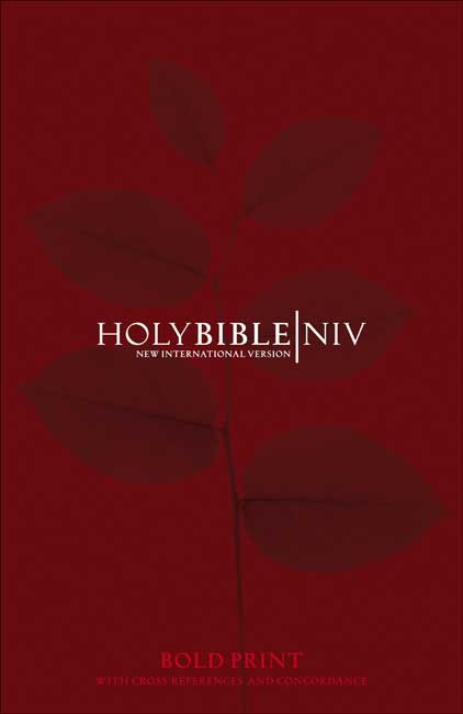 NIV Bold Print Reference Bible with Concordance (Hard Cover)