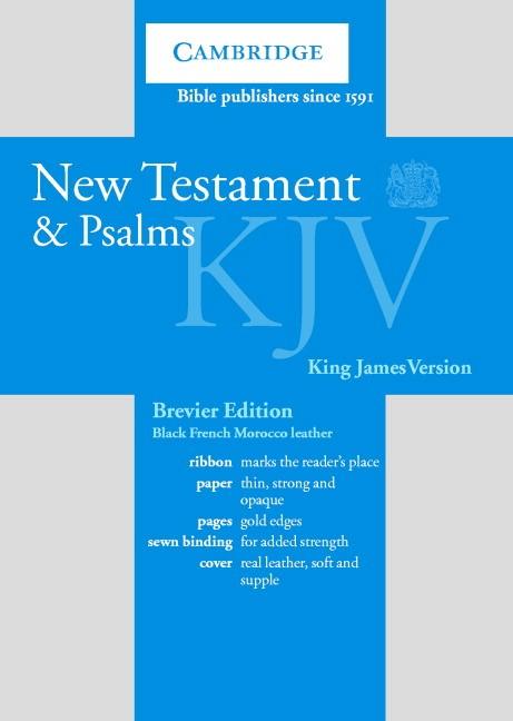 KJV New Testament and Psalms Brevier Black (Leather Binding)