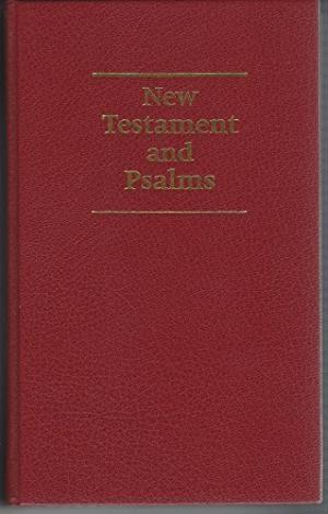 KJV Giant Print New Testament and Psalms Burgundy (Leather Binding)