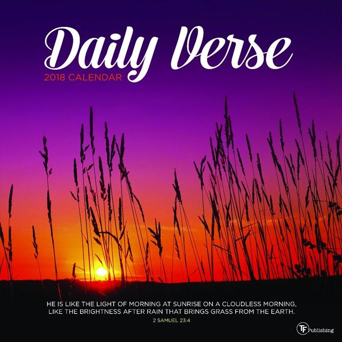 2018 Daily Verse Wall Calendar (Calendar)
