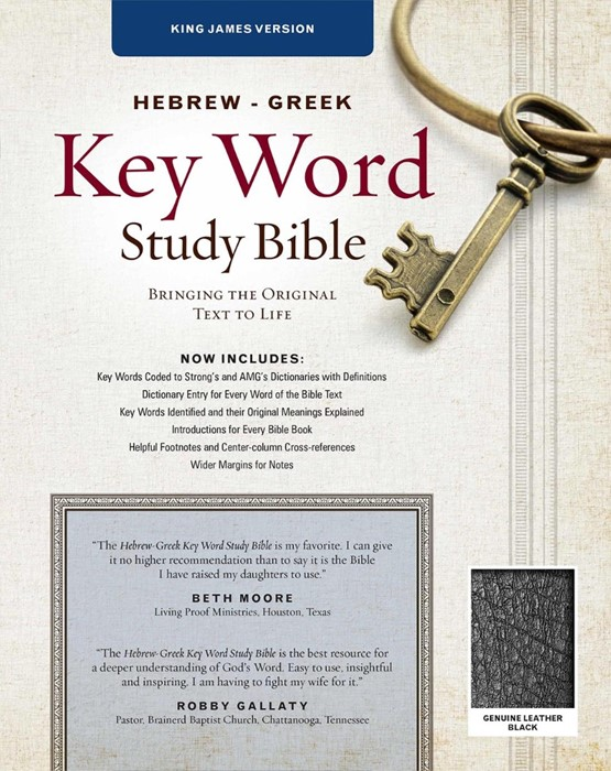 The KJV Hebrew-Greek Key Word Study Bible Black (Genuine Leather)