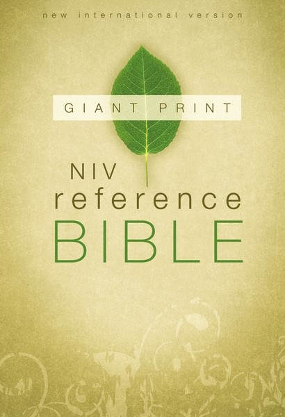 NIV Reference Bible, Giant Print Hardcover (Hard Cover)