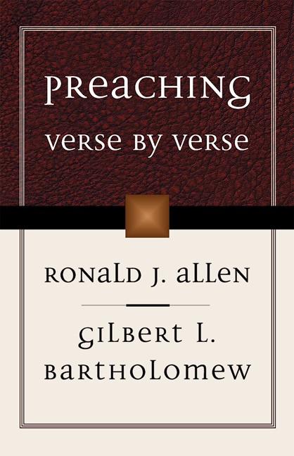 Preaching Verse By Verse (Paperback)