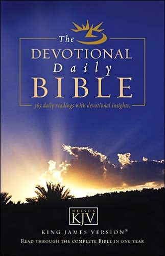 The Daily Devotional KJV Bible (Paperback)