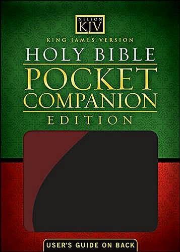 KJV Holy Bible Pocket Companion Black (Imitation Leather)